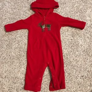 Fleece hooded outfit